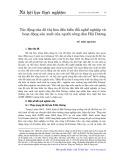 Tác động của đô thị hoá đến biến đổi nghề nghiệp và hoạt động sản xuất của người nông dân Hải Dương - Vũ Hào Quang