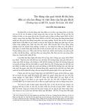 Tác động của quá trình đô thị hoá đến cơ cấu lao động và việc làm của hộ gia đình: Trường hợp xã Mễ Trì, huyện Từ Liêm, Hà Nội - Nguyễn Thị Kim Hoa