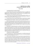 Quyền lực của vợ chồng trong gia đình nông thôn Việt Nam - Phạm Thị Huệ