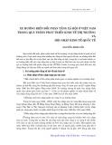 Xu hướng biến đổi phân tầng xã hội ở Việt Nam trong quá trình phát triển kinh tế thị trường và hội nhập kinh tế quốc tế - Nguyễn Đình Tấn