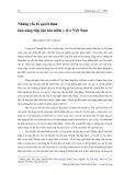 Những yếu tố quyết định khả năng tiếp cận bảo hiểm y tế ở Việt Nam - Đặng Nguyên Anh