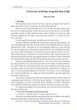 Vai trò của xã hội học trong đời sống xã hội - Hoàng Bá Thịnh
