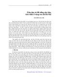 Giáo dục và đời sống văn hoá tinh thần ở vùng ven đô Hà Nội - Nguyễn Nga My