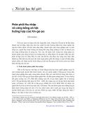 Phân phối thu nhập và công bằng xã hội: Trường hợp của Xingapo - Trần Khánh