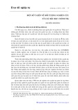 Một số ý kiến về đối tượng nghiên cứu của xã hội học chính trị - Nguyễn Chí Dũng