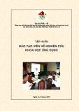 Tập huấn Đào tạo viên về Nghiên cứu khoa học ứng dụng