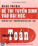 Ôn tập môn toán - Giới thiệu đề thi tuyển sinh Đại học năm học 1997-1998 đến 2003-2004 (Tập 2): Phần 2