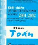 Ebook Giới thiệu đề thi tuyển sinh năm học 2001-2002 môn Toán: Phần 2