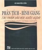 Ebook Phân tích - Bình giảng tác phẩm văn học nước ngoài: Phần 1