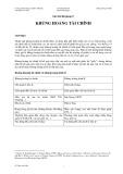 Ghi chú bài giảng 5: Khủng hoảng tài chính - Đỗ Thiên Anh Tuấn
