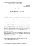 Bài giảng 10: Lý thuyết danh mục đầu tư - Nguyễn Xuân Thành