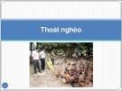 Bài giảng Thoát nghèo - Châu Văn Thành