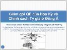 Bài giảng Giảm gói QE của Hoa Kỳ và chính sách tỷ giá ở Đông Á - Châu Văn Thành