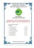 Đề tài: Xử lý nước thải dệt nhuộm Công ty TNHH Jomu Textile, khu công nghiệp Long Thành, Đồng Nai
