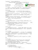 Đề thi tuyển sinh vào lớp 10 chuyên tỉnh năm 2009 môn Hoá học - Sở Giáo dục và Đào tạo Đồng Nai