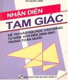 Ebook Nhận diện tam giác - Đề thi vào Đại học - Cao đẳng từ năm 1970 đến 2000-2001 toàn quốc: Phần 1