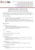 Đề cương khóa học Giao tiếp công việc Format TOEIC speaking, TOEIC writing (Pro)