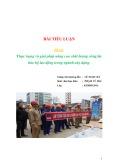 Bài tiểu luận: Thực trạng và giải pháp nâng cao chất lượng công tác bảo hộ lao động trong ngành xây dựng