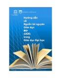 Hướng dẫn về nguồn tài nguyên Giáo dục mở (OER) trong Giáo dục Đại học