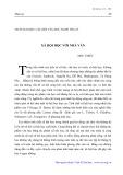 Nhân đại học các hội văn học nghệ thuật: Xã hội học với nhà văn - Như Thiết