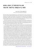 Khoa học xã hội học Bungari trước những nhiệm vụ mới