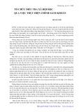 Tổ chức điều tra xã hội học qua việc thực hiện chính sách khoán - Hoàng Đốp