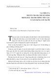 Vai trò của truyền thanh, truyền hình trong đấu tranh chống tiêu cực và xây dựng con người mới - Trần Lâm