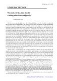 Xã hội học thế giới: Nhà nước và việc giảm sinh đẻ ở những nước có thu nhập thấp