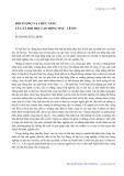 Đối tượng và chức năng của xã hội học lao động Mác-Lênin