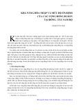 Khả năng hòa nhập và mức độ ổn định của các cộng đồng di dân tại Đông và Tây Nam Bộ - Phạm Xuân Đại
