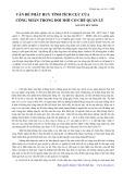 Vấn đề phát huy tính tích cực của công nhân trong đổi mới cơ chế quản lý - Nguyễn Hữu Minh