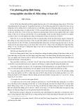 Các phương pháp định lượng trong nghiên cứu dân số: Khả năng và hạn chế - Phí Văn Ba