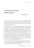 Vài nhận xét về số con trong gia đình - Trịnh Thị Quang