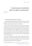 Vấn đề giáo dục tình thương trong gia đình và trường học - Vũ Khiêu