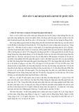 Dân số và kế hoạch hóa kinh tế quốc dân - Nguyễn Văn Lạng