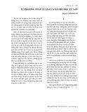 Về phương pháp luận của xã hội học tư sản - Đặng Cảnh Khanh