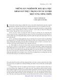 Những suy nghĩ bước đầu qua việc khảo sát thực trạng cơ cấu xã hội một vùng nông thôn - Đặng Cảnh Khanh