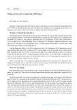 Những chỉ báo mới về người già ở Hải Hưng