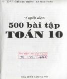 Tuyển chọn và hướng dẫn giải 500 bài tập Toán 10: Phần 2
