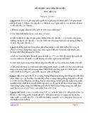 Đề thi học sinh giỏi cấp huyện môn Vật lý 8