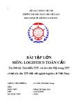 Bài tập lớn: Tìm hiểu TPP, vai trò của Mỹ trong TPP và lợi ích của TPP đối với ngành Logistics ở Việt Nam