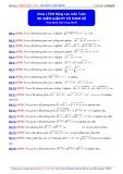 Luyện thi Đại học nâng cao môn Toán: Biện luận phương trình có tham số