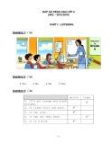 Đáp án Đề kiểm tra học kỳ 2 môn Tiếng Anh lớp 4