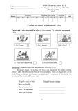 Đề kiểm tra học kỳ 2 môn Tiếng Anh lớp 4 (Tờ 2)