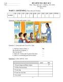 Đề kiểm tra học kỳ 2 môn Tiếng Anh lớp 4 (Tờ 1)