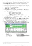 Đề thi học phần Access 1 (Đề số 6)