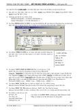 Đề thi học phần Access 1 (Đề số 10)
