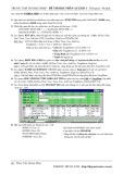 Đề thi học phần Access 1 (Đề số 9)