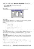 Đề thi học phần Access 1 (Đề số 4)