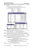 Đề thi học phần Access 1 (Đề số 8)